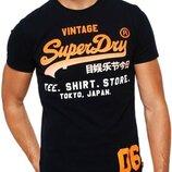Мужская футболка superdry, размер l, черный