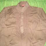 стильная рубашка 8 лет 128 см