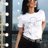 Женская футболка с рисунком дч 4361