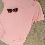 Select замечательная футболка розово-персикового цвета