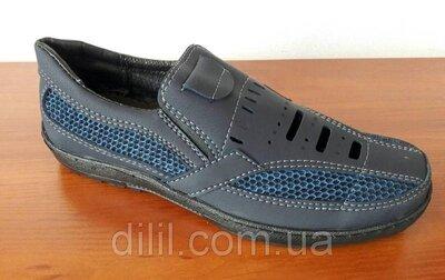 Босоножки сандалии мужские синие прошитые - босоніжки сандалі чоловічі сині