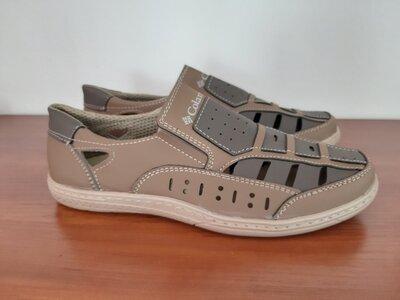 Босоножки сандалии мужские бежевые прошитые - босоніжки сандалі чоловічі бежеві