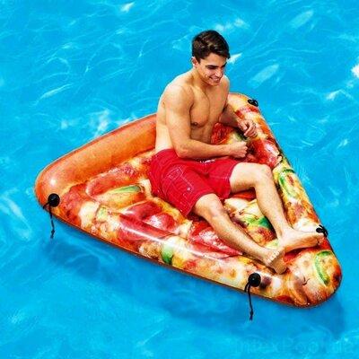 Пляжный надувной матрас - плот Intex 58752 Пицца, 175 х 145 см