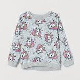 Велюровый свитер H&M Единорог