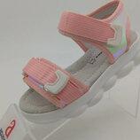 Стильные босоножки для девочки розовые Apawwa 25-30, стильные сандали для девочки