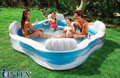 Детский надувной бассейн Intex 56475 Космический плот, 229х229х66 см