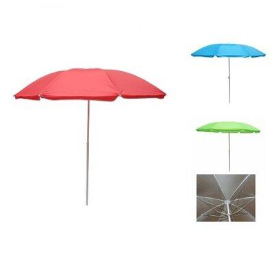 Зонт пляжный ромашка d1.8м серебро однотон MH-2686