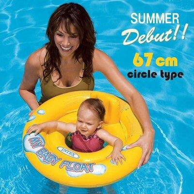 Детский круг-плотик 59574 NP со спинкой диаметр 67см от 1 до 2 лет
