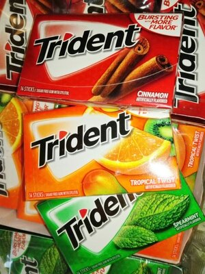 Жевательная резинка Trident Sugar Free Gum 14 Pieces из Сша жевачка жвачка 88.