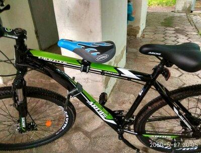 Продано: Детское велосипедное сидение, велокресло переднее