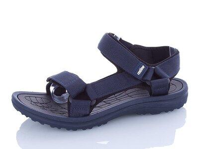 Босоножки сандалии тёмно-синие мужские Restime