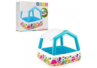 Детский надувной бассейн Intex 57470 Аквариум со съемным навесом
