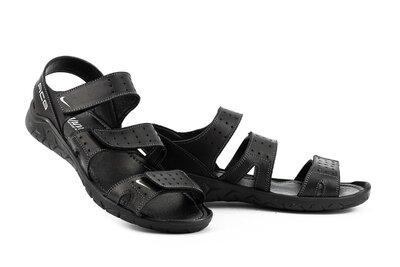 Мужские сандали кожаные летние черные натуральная кожа