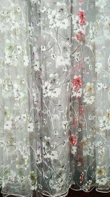 Тюль с рисунком Сакура