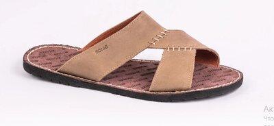 Кожаные мужские шлепанцы босоножки сандалии 39-45 р-ры Верх и подкладка натуральная кожа. Стильные