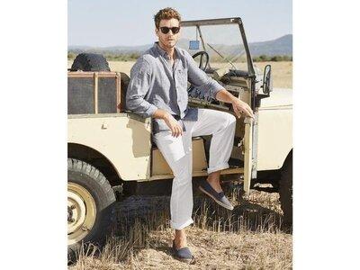 Мужские льняные брюки штаны, лен хлопок livergy Германия
