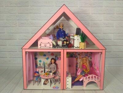 Кукольный домик для барби. Эко игрушки. Эко домик.