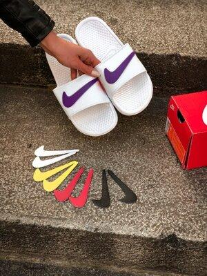 Тапки шлепанцы мужские Nike сменные лого