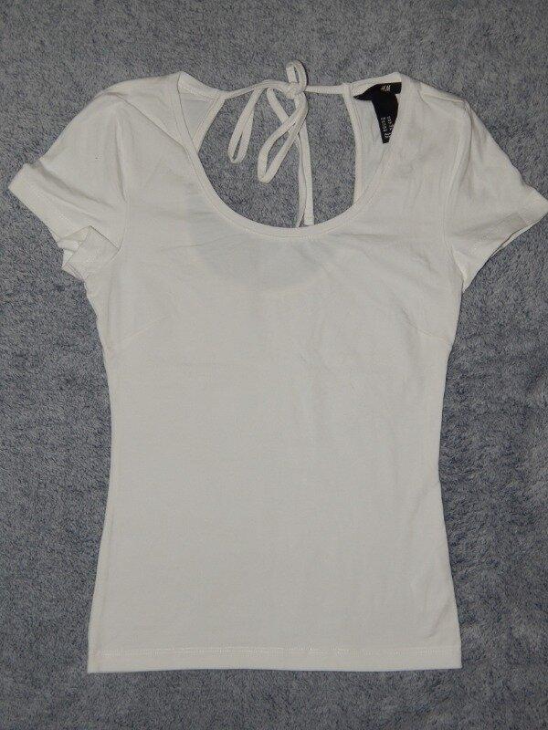 Белая трикотажная футболка H&M на девочку 12-13 лет. Размер XS.: 60 грн - футболки, майки h&m в Запорожье, объявление №26028974 Клубок (ранее Клумба)