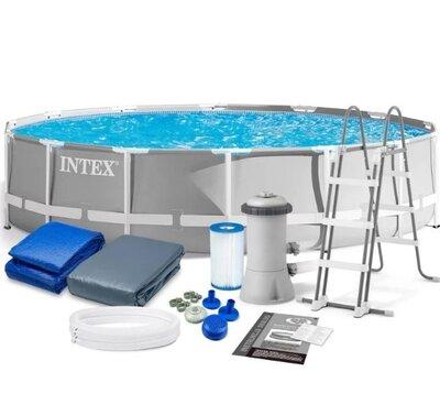 Каркасный бассейн Intex 427х107 см полный комплект, 26720