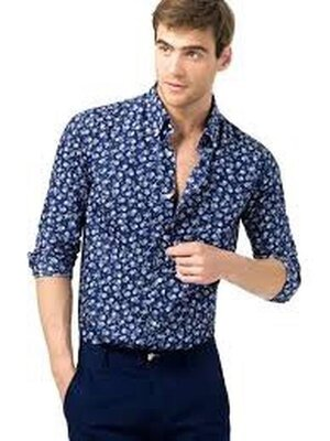 Zara man рубашка цветочного принта s - размер