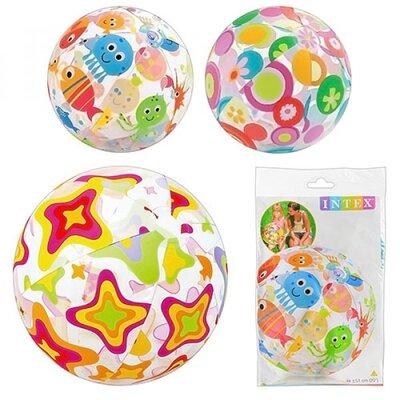 Мяч 59040 разноцветный, надувной