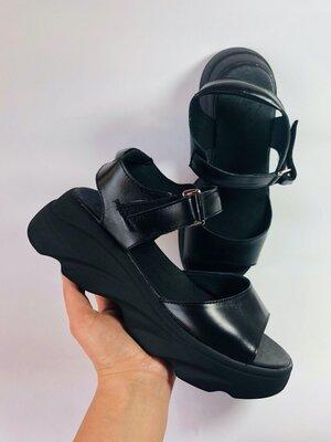 Женские кожаные босоножки на платформе черные женские босоножки кожаные летние