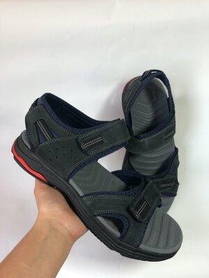 Мужские сандали нубуковые летние синие мужские сандалии все размеры 40-44