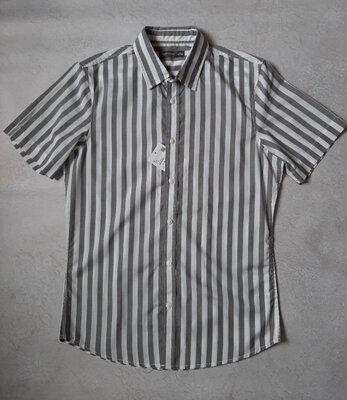 Мужская рубашка с коротким рукавом c&a летняя рубашка