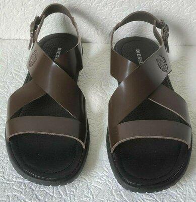 Мужские кожаные коричневые сандалии Diesel casual