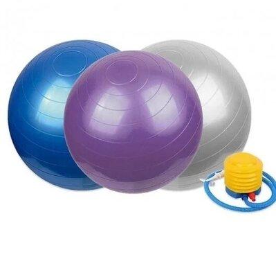 Мяч для фитнеса с насосом Gym Ball 75 см. фитбол,фитнес мяч