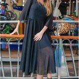Легкое,красивое шифоновое платье на подкладке,размер 54-60