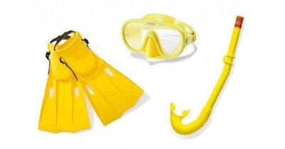 Набор для плавания ласты, маска и трубка , размер M Intex 55655