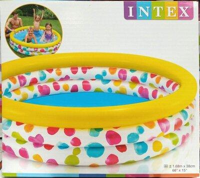 Intex Бассейн 58449 Геометрия размер 168 х 38 см, объёмом 581 л