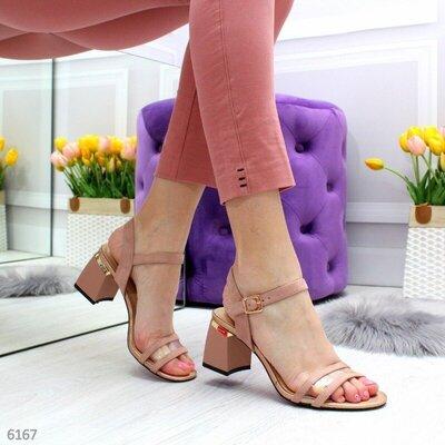 Нарядные босоножки на среднем каблуке, нарядные босоножки,босоніжки на каблуку 36-40р код 6167