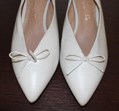 Летние туфли, закрытые босоножки на широкую ножку, NEXT, кожа, р.41