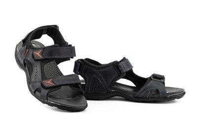 Мужские сандали кожаные летние синие Lions Biom Dark Blue 43р
