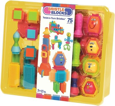Battat Конструктор бристл 75 деталей Веселые человечки 3037Z Bristle Blocks Creativity Building Toys
