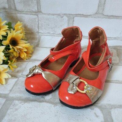 Туфли на девочку оранжевые