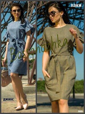 M-XXL, Жіноча лляна сукня, Льняное платье стильное, замеры. Летнее платье женское лен