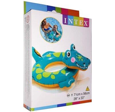 арт. 58221 Надувной круг Intex Крокодил 71х56см