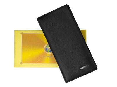 Портмоне бумажник из натуральной кожи с отделом для телефона