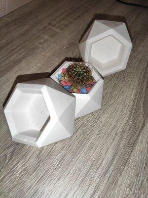 Кашпо для цветов из гипса и бетона. Вещи для интерьеров