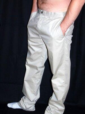 Продано: H & M Шикарные светлые летние брюки - L - XL