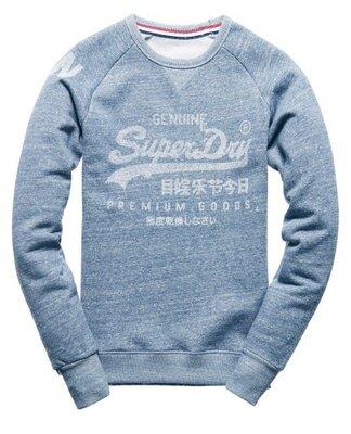Мужская толстовка кофта меланж на флисе Superdry Premium S M