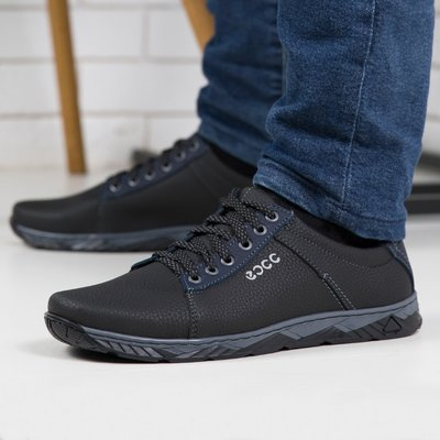 Чоловічі кросівки чорні / Кроссовки мужские чорние туфли Лк 4