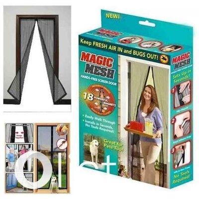Сетка москитная на двери Magic Mesh 190 100 см - антимоскитная сетка штора на магнитах