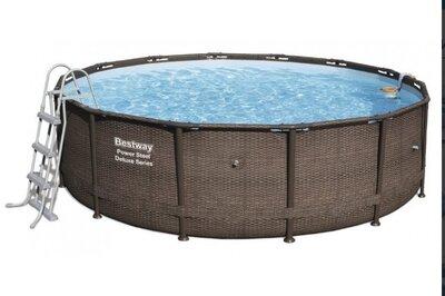Каркасный бассейн Bestway Ротанг 56666 488х122 с картриджным фильтром