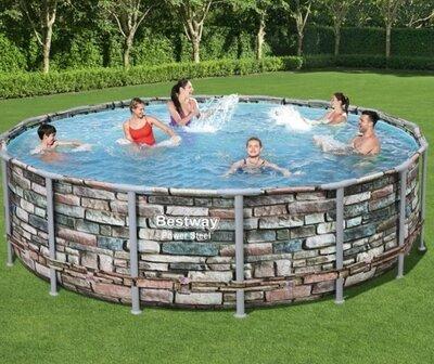Каркасный бассейн Bestway Loft 56966 488х122 с картриджным фильтром