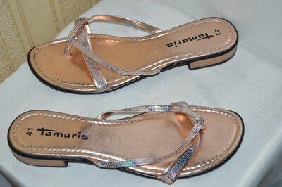 Шльопки шльопанці tamaris оригінал кожа розмір 41 42, шлепки